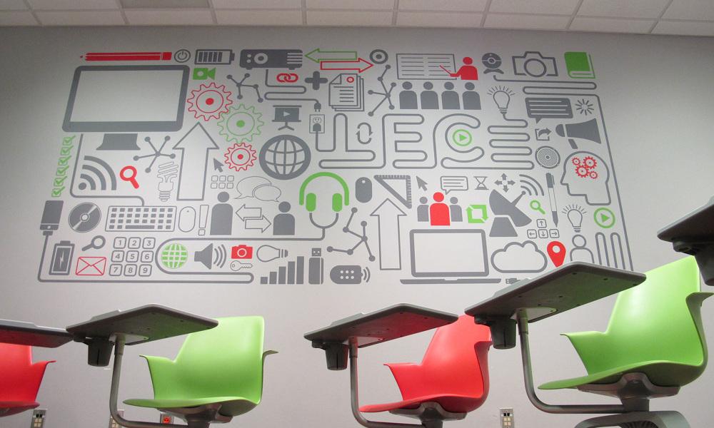 Lab Wall Vinyl Mural