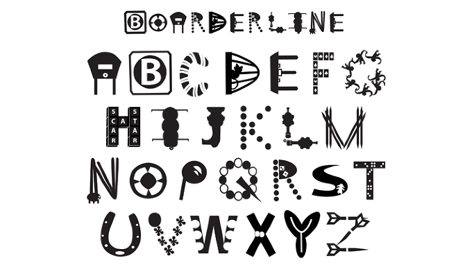 board game font design by drew