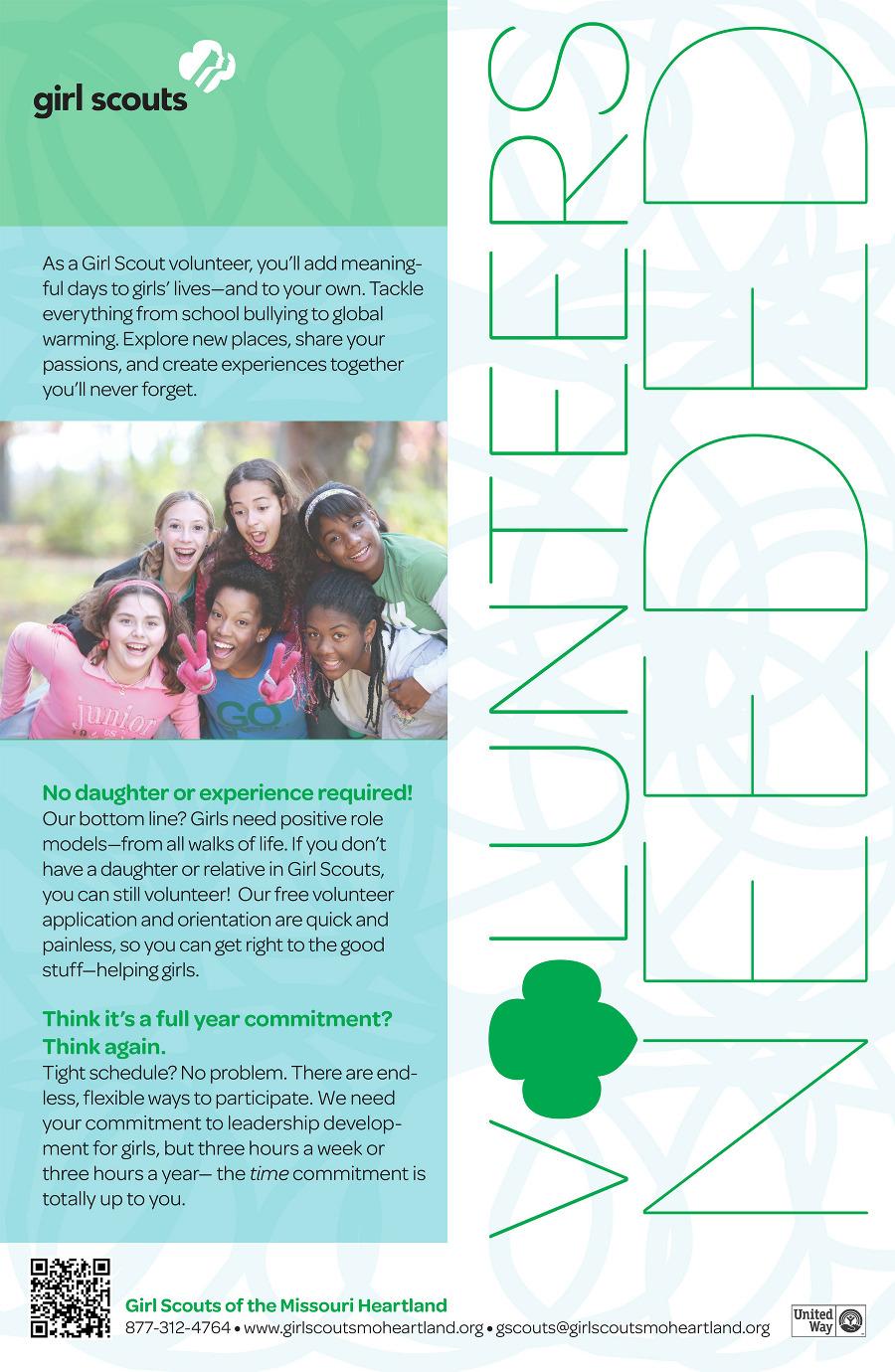Poster design volunteer - Girl Scouts Volunteer Recruitment Poster Amanda Smith Graphic Design